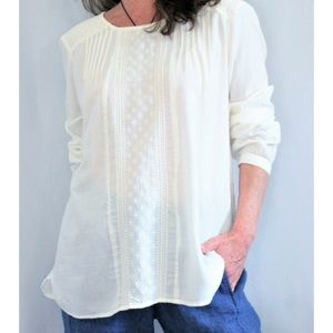 Ruff Hewn off white embroidered blouse (PM)